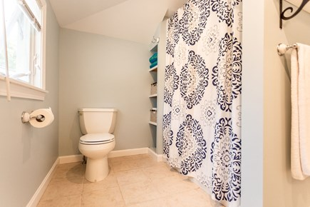 Eastham Cape Cod vacation rental - Large bathroom with 4 ft seated shower