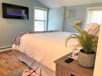 Eastham Cape Cod vacation rental - Cozy, wall hung fireplace