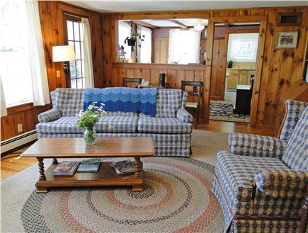 South Chatham Cape Cod vacation rental - Living room offers water views