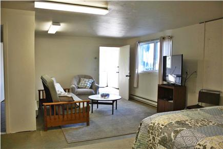 Truro Cape Cod vacation rental - Downstairs annex - room beyond has ping pong table!