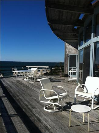 Truro Cape Cod vacation rental - Deck view over 180 degrees - see Provincetown sparkle at night