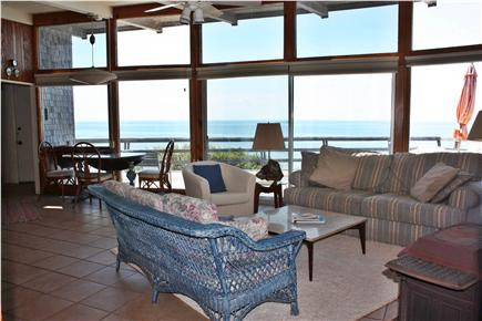 Truro Cape Cod vacation rental - A wall of windows offers expansive Bay views