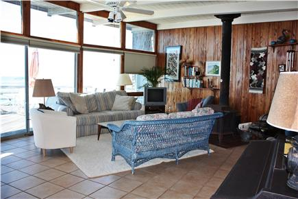 Truro Cape Cod vacation rental - Living area - see the self playing piano (bottom right)?