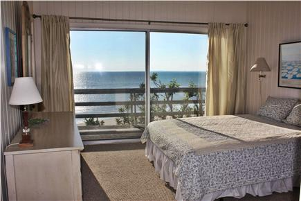 Truro Cape Cod vacation rental - Master bedroom with slider to deck and water views
