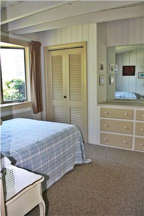Truro Cape Cod vacation rental - Bay window bedroom with double bed