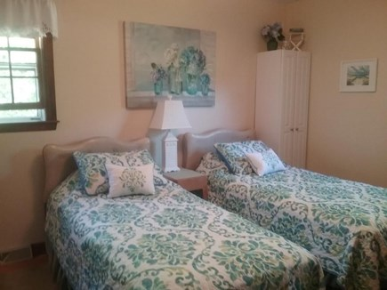 South Harwich Cape Cod vacation rental - Twin Bedroom with attached half bath