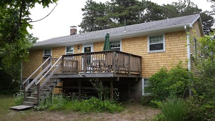 South Harwich Cape Cod vacation rental - Back Deck/Yard