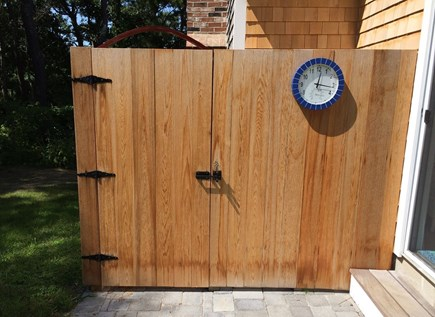 Dennis Cape Cod vacation rental - Outdoor shower with changing area