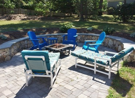 Dennis Cape Cod vacation rental - Backyard patio with sitting wall