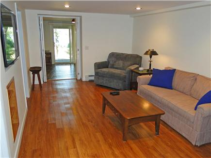 Eastham Cape Cod vacation rental - Downstairs family room with new flooring and WiFI flatscreen TV