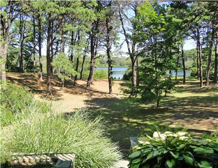 Eastham Cape Cod vacation rental - View of yard and water from patio