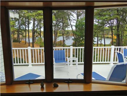 Eastham Cape Cod vacation rental - Both Living room and Master face deck and water