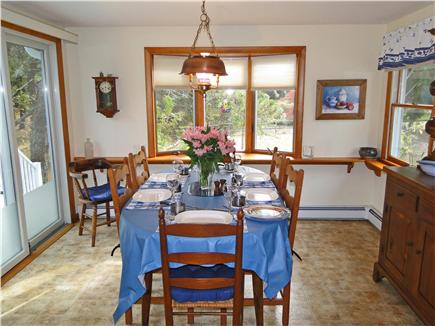 Eastham Cape Cod vacation rental - Dining area, adjacent to kitchen, slider to deck