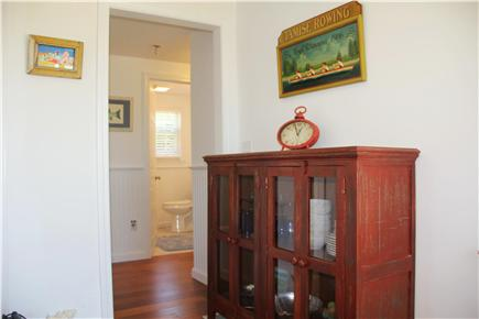 Eastham Cape Cod vacation rental - A nice picture of the 1st bathroom in foreground..:)