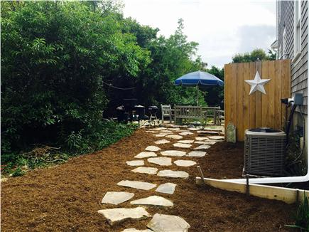 Eastham Cape Cod vacation rental - Stone walk to dining patio and outdoor shower.