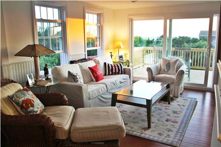 Eastham Cape Cod vacation rental - Living Room w/50'' LG television