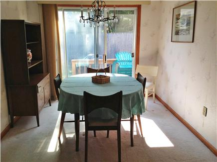 West Dennis Cape Cod vacation rental - Dining room leads to deck