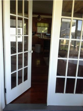 Wareham MA vacation rental - French doors into the living room