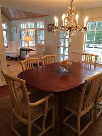 Osterville Osterville vacation rental - Dining Room leads to side porch