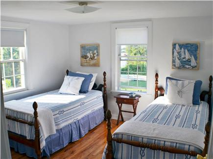 East Falmouth Cape Cod vacation rental - 1st floor twin bedroom with salt water views