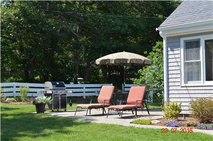 East Falmouth Cape Cod vacation rental - Relaxing patio with grill