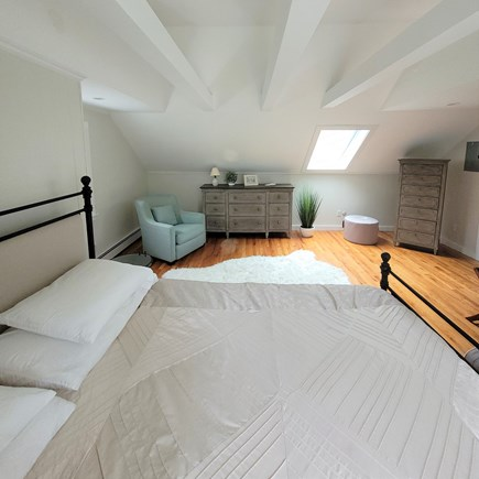 East Falmouth Cape Cod vacation rental - 2nd floor master- new furniture, skylight and cathedral ceiling.