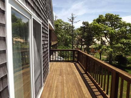 Chatham Cape Cod vacation rental - Deck off of master BR, water views - leads to upper back deck
