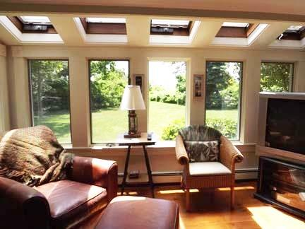 Chatham Cape Cod vacation rental - Living room area, skylights, water views