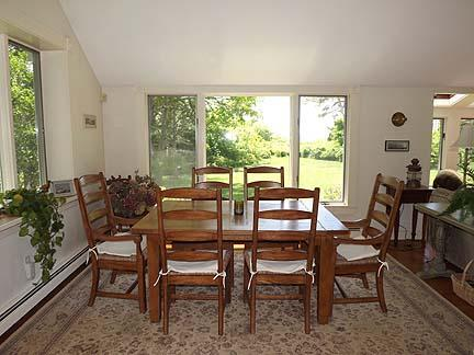 Chatham Cape Cod vacation rental - Dining room area; water views out back windows