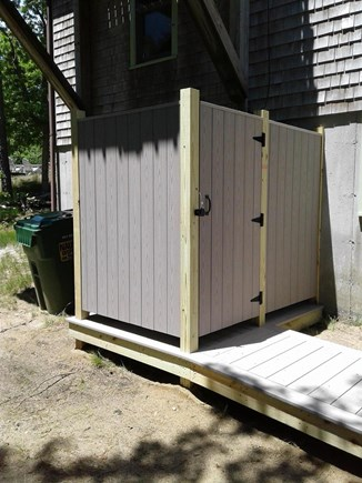 Wellfleet Cape Cod vacation rental - New Outdoor Shower with wheelchair accessible ramp and door