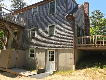 Wellfleet Cape Cod vacation rental - Back of house showing decks and outside shower