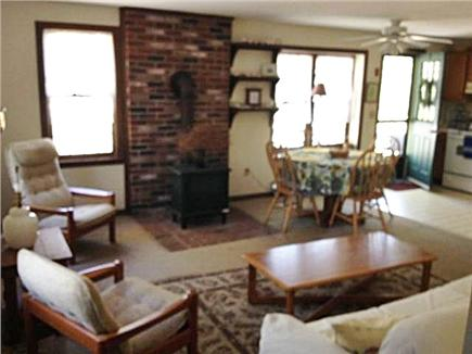 Wellfleet Cape Cod vacation rental - Spacious, comfortable living area with wood stove