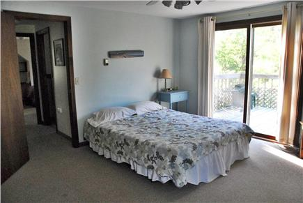 Wellfleet Cape Cod vacation rental - Master bedroom with sliders to private deck