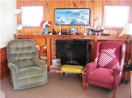 West Dennis Cape Cod vacation rental - Fireplaced living room