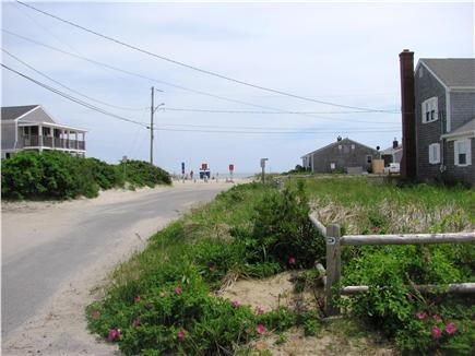 West Dennis Cape Cod vacation rental - View of beach from cottage driveway