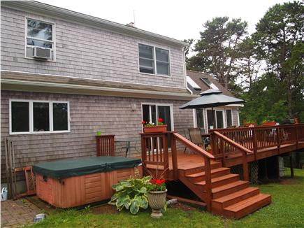 Wellfleet Cape Cod vacation rental - Back of house showing Deck and Hot tub