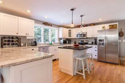 Wellfleet Cape Cod vacation rental - Kitchen open to Dining and Living room.