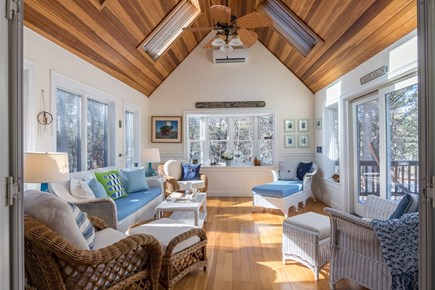 Wellfleet Cape Cod vacation rental - Beautiful Sunroom opens up to Deck