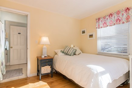 Wellfleet Cape Cod vacation rental - First floor bedroom with full bath connected.