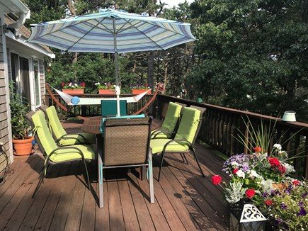 Wellfleet Cape Cod vacation rental - Large deck with Weber grill and hammock.
