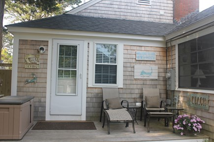 West Harwich Cape Cod vacation rental - Cozy Deck Off Kitchen