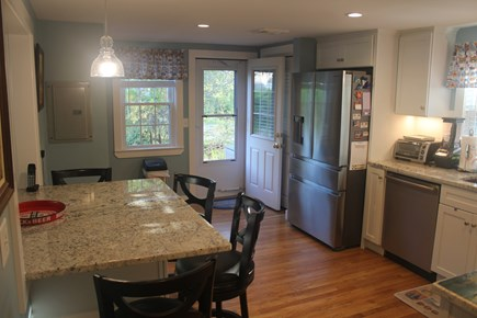 West Harwich Cape Cod vacation rental - Eat in Kitchen With Access to Deck & Backyard