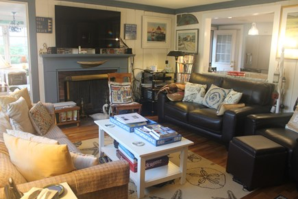 West Harwich Cape Cod vacation rental - Charming & Comfortable Living Room with opening to the kitchen