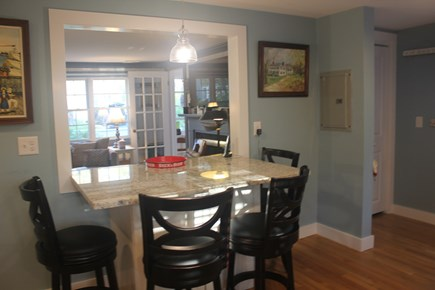 West Harwich Cape Cod vacation rental - Opening between kitchen & living room