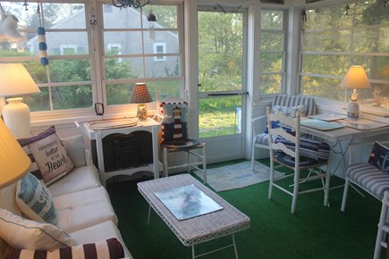 West Harwich Cape Cod vacation rental - Screened Porch off Living Room - Open All Windows for Nice Breeze