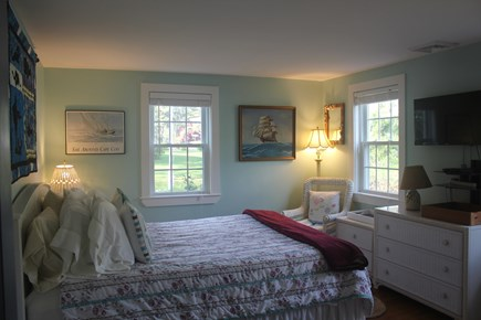 West Harwich Cape Cod vacation rental - Master Bedroom - Queen Bed & Flat Screen TV