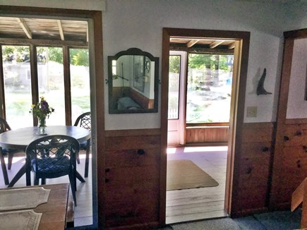 Cotuit Cotuit vacation rental - View from Living Room through Porch to Front Yard