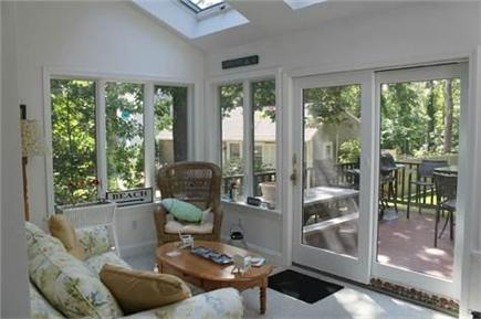 Harwich Cape Cod vacation rental - Wonderful Sunroom Looking Out to Decks and Backyard