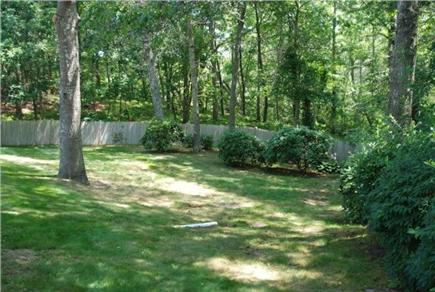 Falmouth Cape Cod vacation rental - Large fenced in back yard