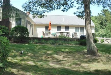 Falmouth Cape Cod vacation rental - Lovely, lg fenced in back yard with lg second deck & grill area